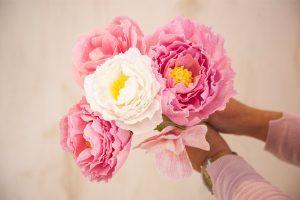 taller exquisitae flores de papel crepe