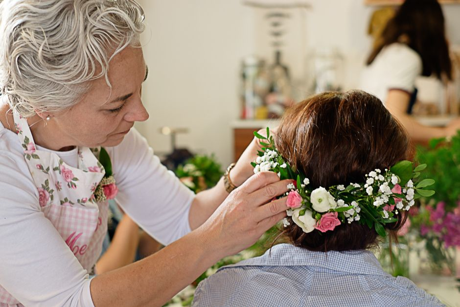 Colocación Prendido de flores naturales