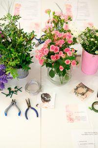 Material Taller de Prendidos con Flores Naturales