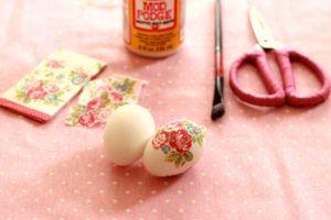 diy huevos decoupage