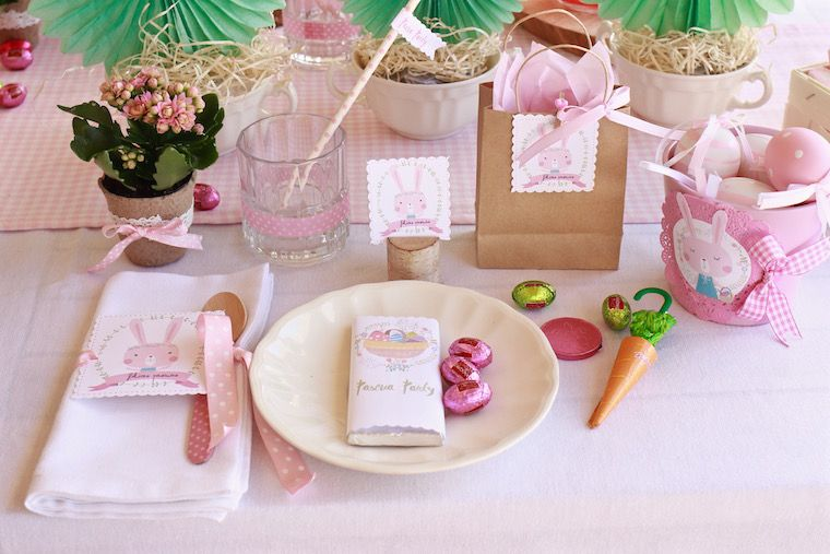 exquisitae mesa decoracion pascua infantil