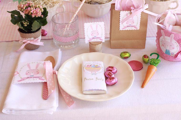 mesa decoración pascua infantil