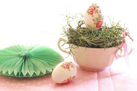 diy huevos decorados decoupage