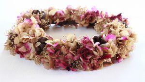 Taller coronas con flores preservadas