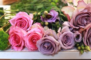 flores exquisitae rosa y malva
