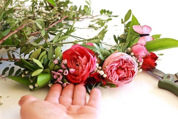 taller prendidos con flor natural