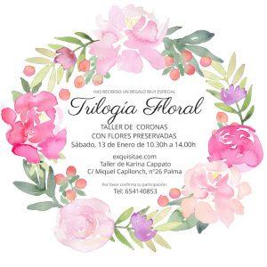 taller coronas florales preservadas trilogia floral