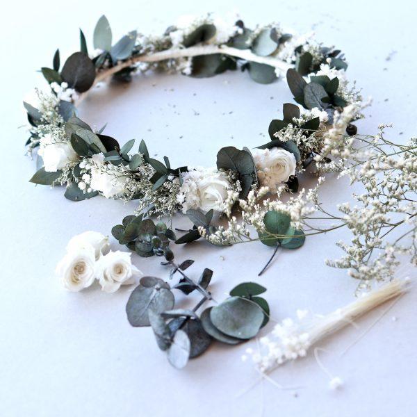 corona de flores para novias Nacar