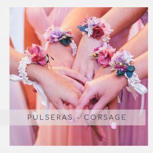 Corsage: Pulseras con flores preservadas