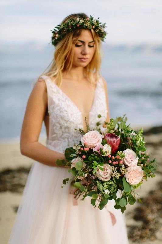 ramos de novia y complementos para novias con flores naturales y preservadas exquisitae