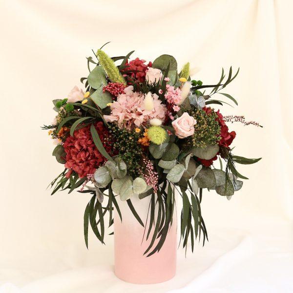 Rose arreglo floral en jarron con flores preservadas exquisitae