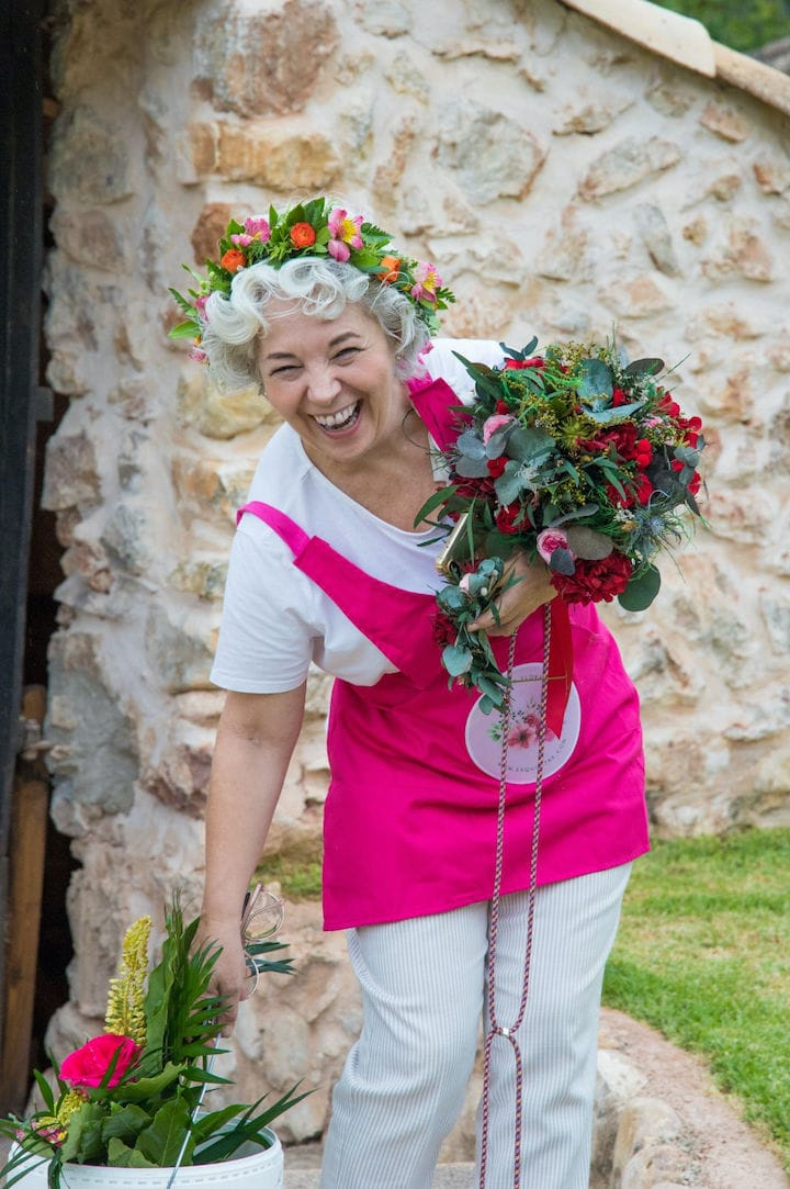 Mercedes Pascual el alma de exquisitae.com florista experta en materializar tu emocion con flores.