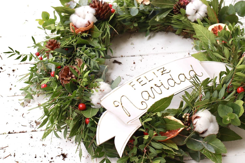 corona de navidad artesanal